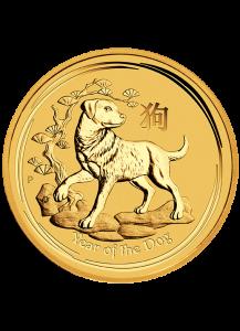 Australien 2018   Jahr des Hundes   Lunar II   Gold 1/10 oz