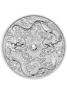 Australien 2019  Double Dragon   1 $ Silber 1 oz  Dragon Serie