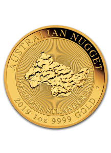 Australien 2019  Welcome Stranger 1869 - 2019 Nugget Gold 1 oz