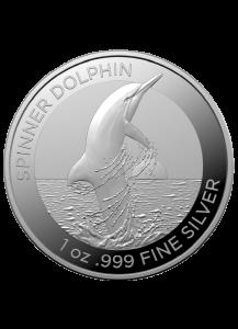 Australien 2020 Spinner Dolphin - Ostpazifischer Delphin Silber 1 oz