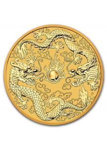 Australien 2020  Drache und Drache - Double Dragon  Gold 1 oz