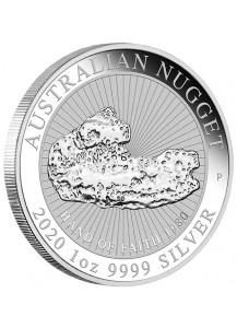 Australien 2020  Hand of Faith  - Nugget Silber 1 oz