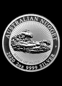 Australien 2020  Hand of Faith  - Nugget Silber 2 oz