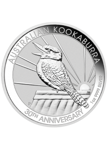 Australien 2020  Kookaburra Silber 1 oz  30 Jahre Kookaburra 1990 - 2020