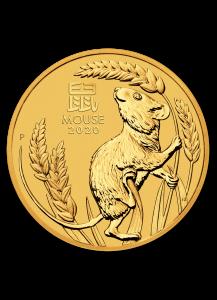 Australien 2020 Jahr der Maus Lunar Serie III Gold 1/4 oz