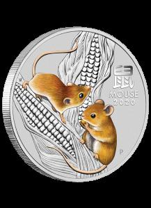 Australien 2020 Jahr der Maus Lunar Serie III Silber 5 oz FARBE - color