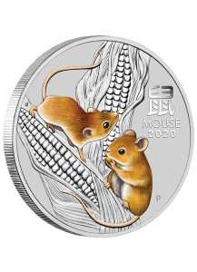 Australien 2020 Jahr der Maus Lunar Serie III Silber 1 Kilo FARBE - color
