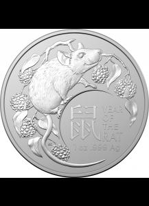 Australien 2020  RAM  Jahr der Ratte - Maus Lunar - Serie Silber 1 oz