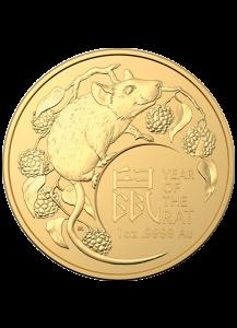 Australien 2020  RAM  Jahr der Ratte - Maus Lunar - Serie Gold 1 oz