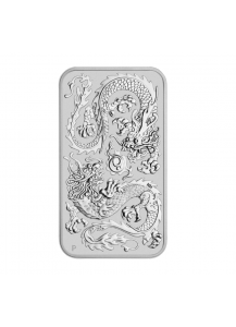 Australien 2020  Rectangle Dragon - Drache Silbermünze - Münzbarren 1 oz