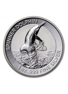 Australien 2020 Spinner Dolphin - Ostpazifischer Delphin Silber 1 oz PP polierte Platte