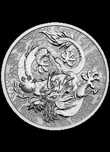Australien 2021  Myths & Legends: Dragon   1 $ Silber 1 oz  Drachen Serie