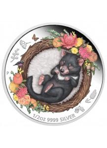 Australien 2021 TASMANIAN DEVIL - Serie Dreaming Down Under  Silber 1/2 oz