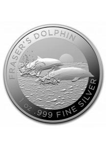Australien 2021 Fraser  Dolphin -  Delphin Silber 1 oz