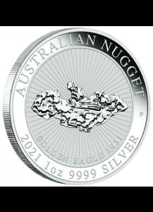 Australien 2021  Golden Eagle  - Nugget Silber 1 oz