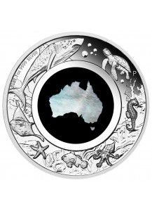 Australien 2021  GREAT SOUTHERN LAND - MOTHER OF PEARL  Silber PP