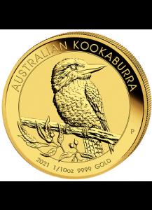 Australien 2021   Kookaburra   Gold 1/10 oz