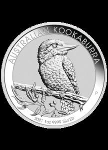 Australien 2021  Kookaburra Silber 1 oz