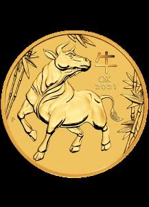 Australien 2021 Jahr des Ochsen Lunar Serie III Gold 1/20 oz
