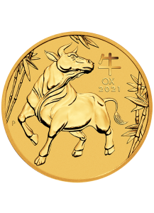 Australien 2021 Jahr des Ochsen Lunar Serie III Gold 1/10 oz