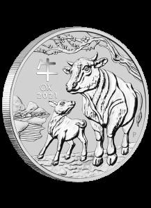 Australien 2021 Jahr des Ochsen Lunar Serie III Silber 5 oz