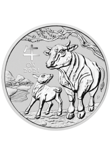 Australien 2021 Jahr des Ochsen Lunar Serie III Silber 2 oz