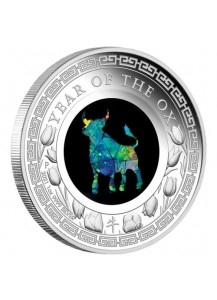 Australien 2021  OPAL SERIE Jahr des Ochsen - OX  Silber PP