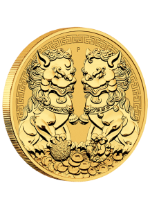 Australien 2021  Guardian Lion DOUBLE PIXIU - Wächterlöwen  Gold 1 oz