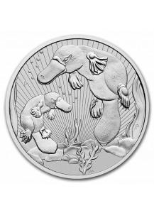 Australien 2021  PLATYPUS mit Baby  Australia Next Generation Serie Silber 10 oz PIEDFORT