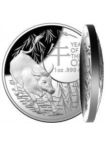 Australien 2021  RAM  Jahr des Ochsen Lunar - Serie Silber 1 oz PP