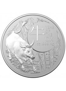 Australien 2021  RAM  Jahr des Ochsen - OX -  Lunar - Serie Silber 1 oz