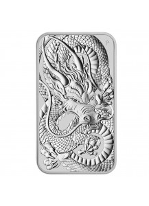 Australien 2021  Rectangle Dragon - Drache Silbermünze - Münzbarren 1 oz
