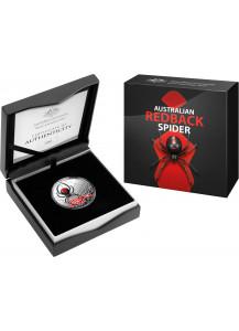 Australien 2021  Redback Spider Silber 1 oz PP Farbe