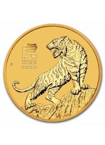 Australien 2022 Jahr des Tigers Lunar Serie III Gold 1/2 oz