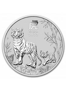 Australien 2022 Jahr des Tigers Lunar Serie III Silber 1 oz