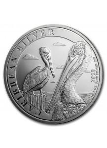 Barbados 2020 Karibischer Pelikan Silber 1 oz