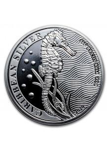 Barbados 2020 Seahorse - Seepferd Silber 1 oz