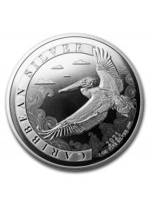 Barbados 2021 Karibischer Pelikan Silber 1 oz