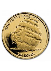British Indian Ocean Territory 2021  CUTTY SARK  Gold  0,5 g  BIOT