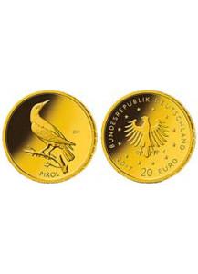 BRD 2017 D PIROL   Serie: Heimische Vögel 20 € Goldmünze D = München
