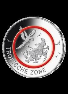 BRD 2017  Tropische Zone  5 €      POLIERTE PLATTE