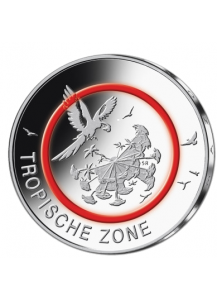 BRD 2017 Tropische Zone 5 € st Prägestätte Karlsruhe G