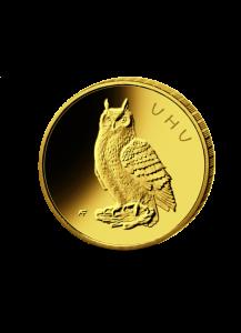 BRD 2018 G   UHU    Serie: Heimische Vögel 20 € Goldmünze G = Karlsruhe