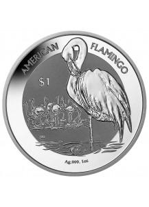 British Virgin Island 2021  American Flamingo  Silber 1 oz
