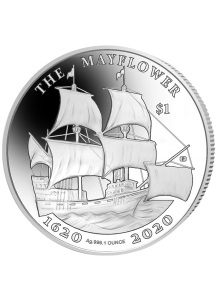 British Virgin Island 2020  THE MAYFLOWER  Silber 1 oz prooflike