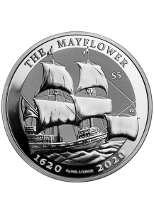 British Virgin Island 2020  THE MAYFLOWER  Silber 5 oz