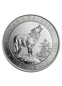 Canada 2015 Grey Wolf  - Grauwolf Silber 3/4 oz