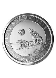 Canada 2016 Grey Wolf  - Grauwolf Silber 3/4 oz