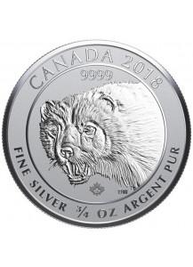 Canada 2018 Wolverine - Vielfraß   Silber 3/4 oz