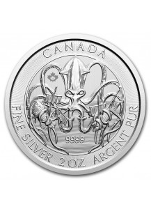 Canada 2020  KRAKEN - Creatures of the North Silber 2 oz